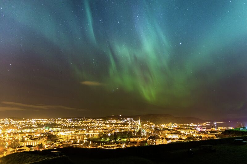 Northern lights, Trondheim.
