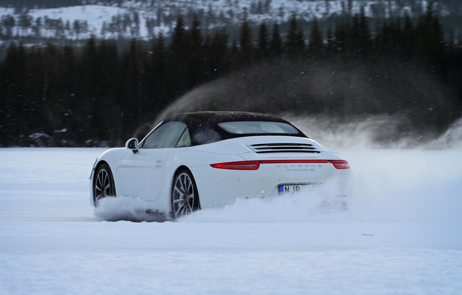 Ice driving, maximum adrenaline.