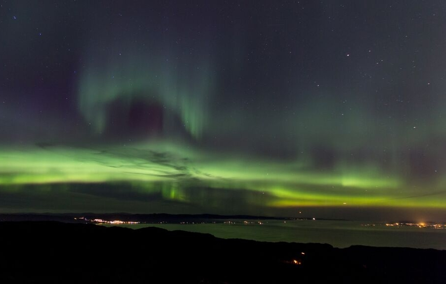 Northern lights in Trondheim.