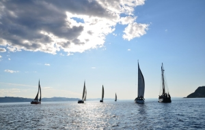 Sailing on the Trondheim fjord.