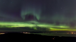 Northern lights over Trondheim.